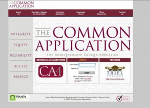 Proof your common application carefully before submitting