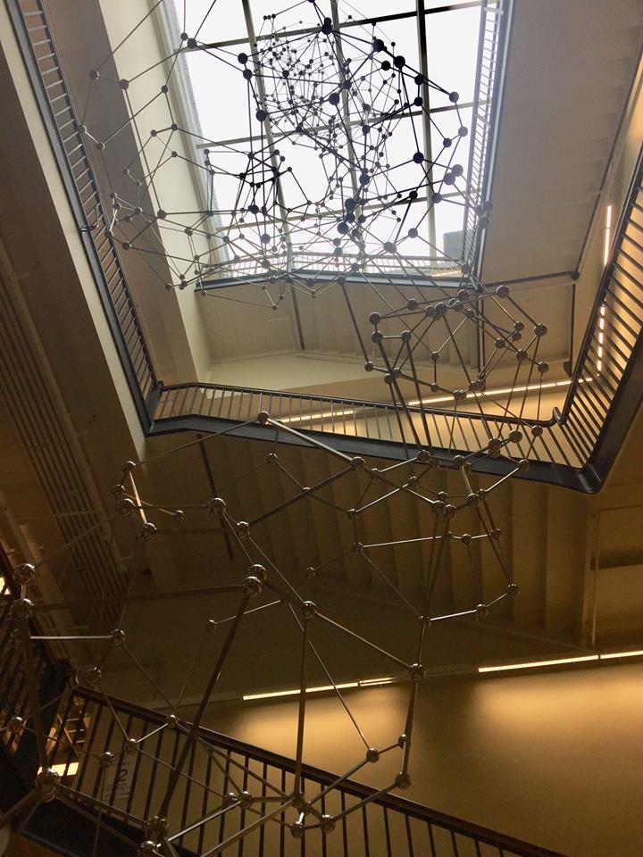 science sculpture hanging