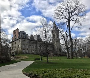 College building on campus